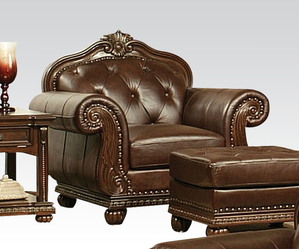 Acme furniture anondale top grain leather sofa set for L furniture warehouse london