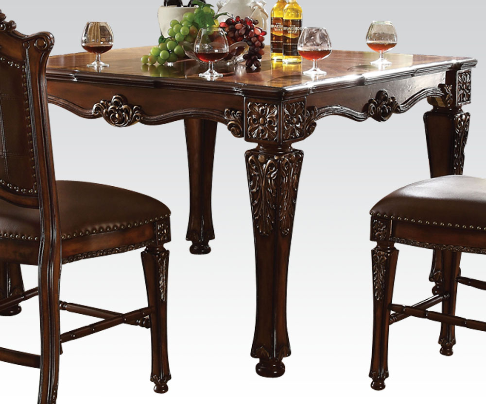 Acme furniture vendome counter height dining set for L furniture warehouse