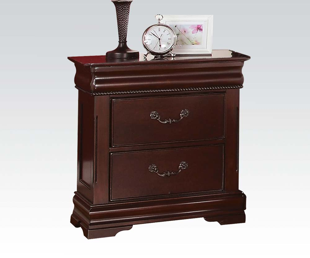 Acme furniture gwyneth bed and nightstand for L furniture warehouse queen