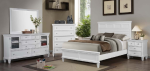 4 PC Coaster White Sandy Beach Bedroom Set