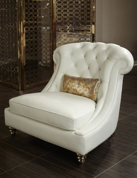 white leather chair and a half aico mia bella damario white gold leather tufted chair amp a 21976 | AICO Mia Bella Damario White Gold Leather Tufted Chair a Half MB DMRIO38 WHT 99 440x572