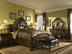 Palace Gates Tufted Leather Mansion Bedroom Set