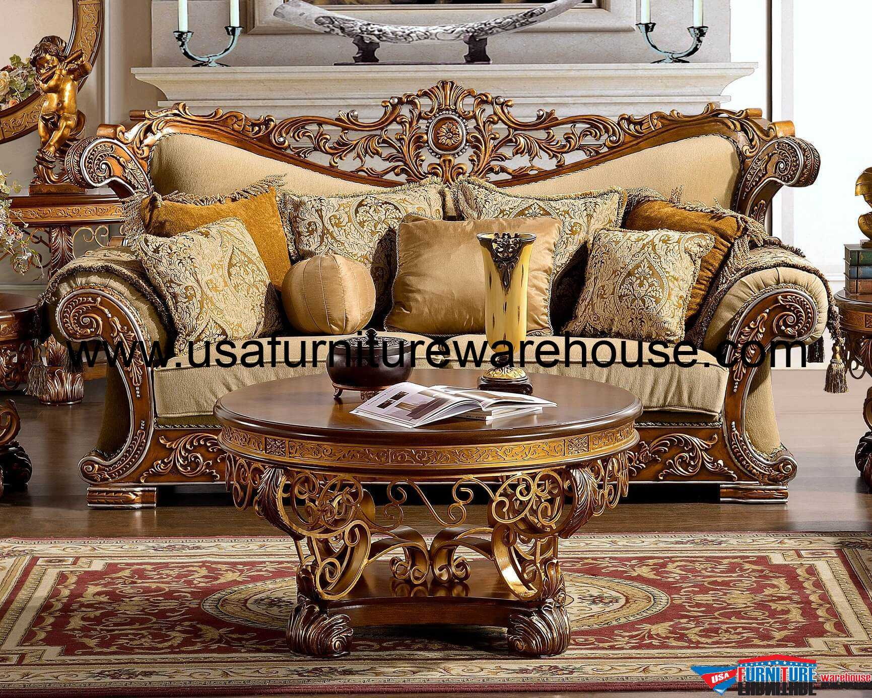 Hd 369 Homey Design Royal Sofa
