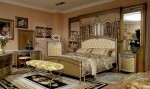 4-Pc Zeus European Golden Luxury Bedroom Set