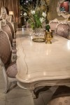 AICO Chateau De Lago Rectangular Dining Table In Blanco