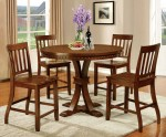 5 Piece Foster II Counter Height Dining Set in Dark Oak Finish