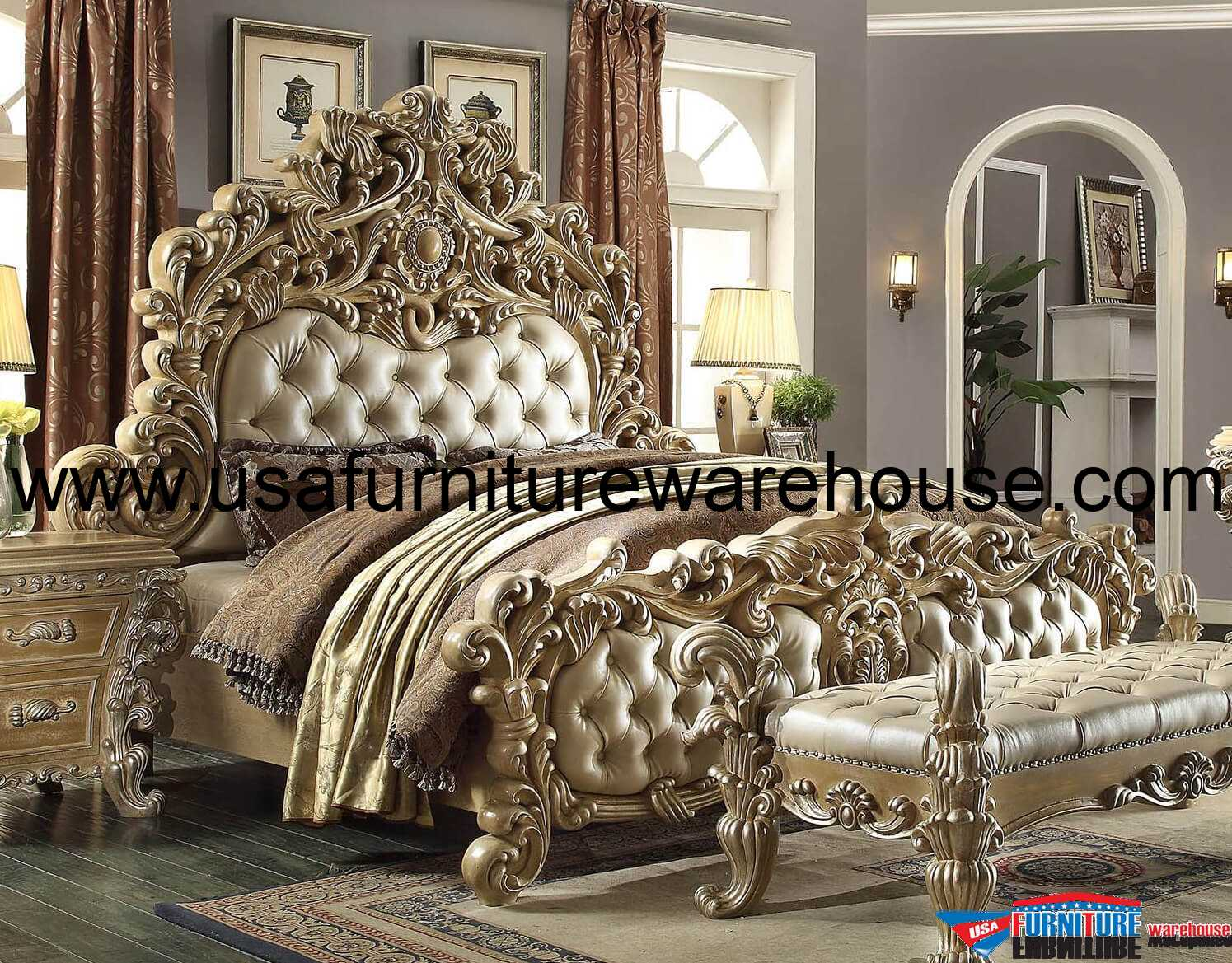 Homey Design Royal Kingdom HD 7012 Bed
