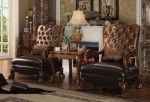 Dresden Accent Chair Golden Brown Velvet