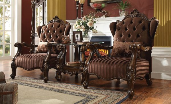Acme Versailles Accent Chair Brown Velvet