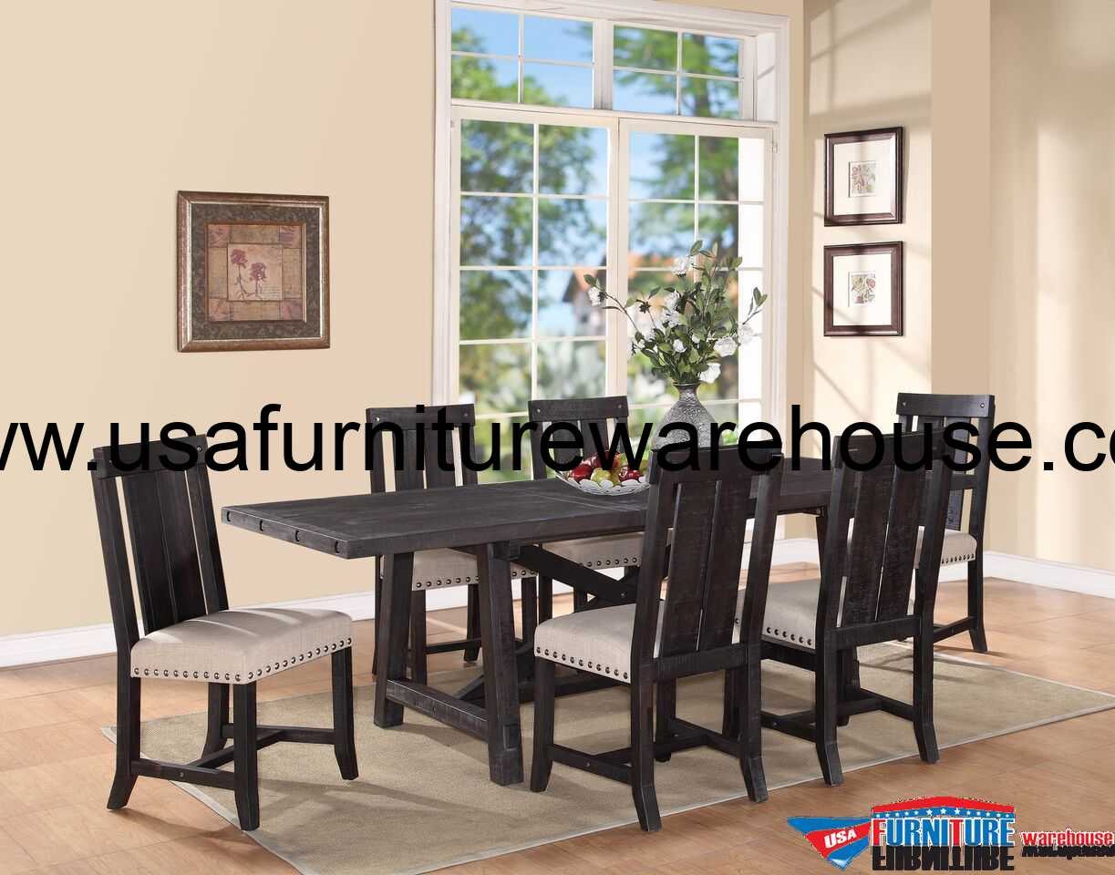 9 Piece Modus Yosemite Solid Wood Dining Set Usa