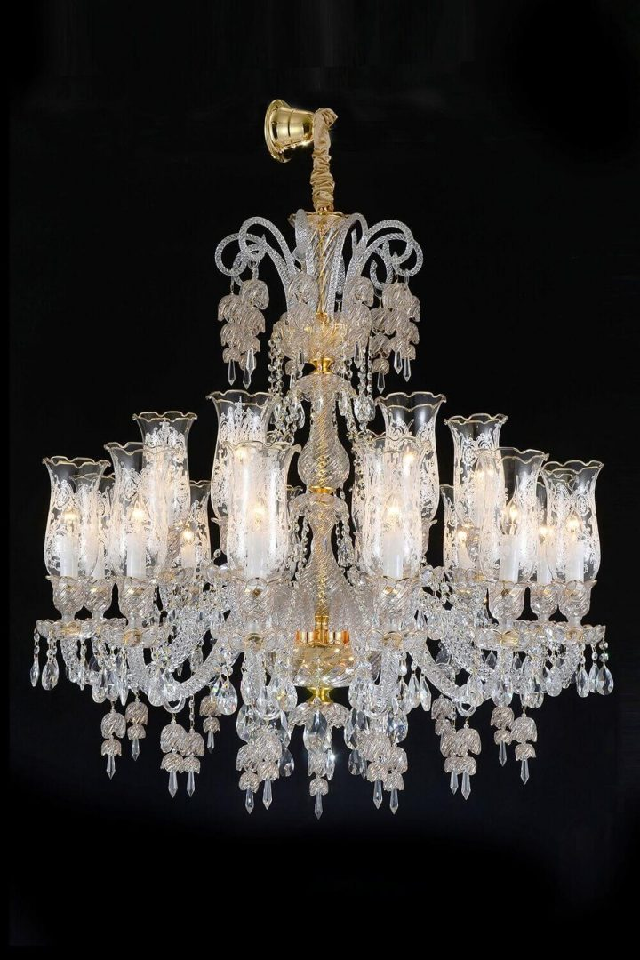 AICO Garnier 18 Light Chandelier Clear Glass