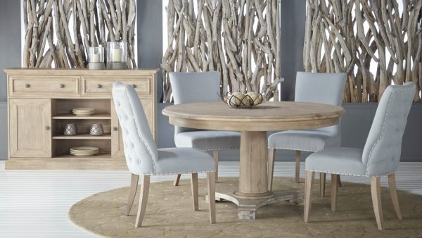 Belmont Round Dining Set With Lourdes Chair