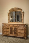 Aico Excursions Dresser With Mirror Set