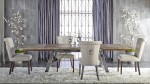Grayson Dining Set With Luxe Almond Fabric Chairs