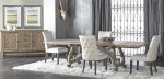 Haute Gray Wash Dining Set Lourdes Chairs