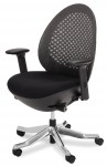 AICO Linq Mid Charcoal Black Mesh Swivel Chair