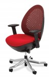 AICO Linq Mid Red Swivel Chair