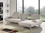 3 Piece Contempo Adjustable Backrest Sand Fabric Sectional