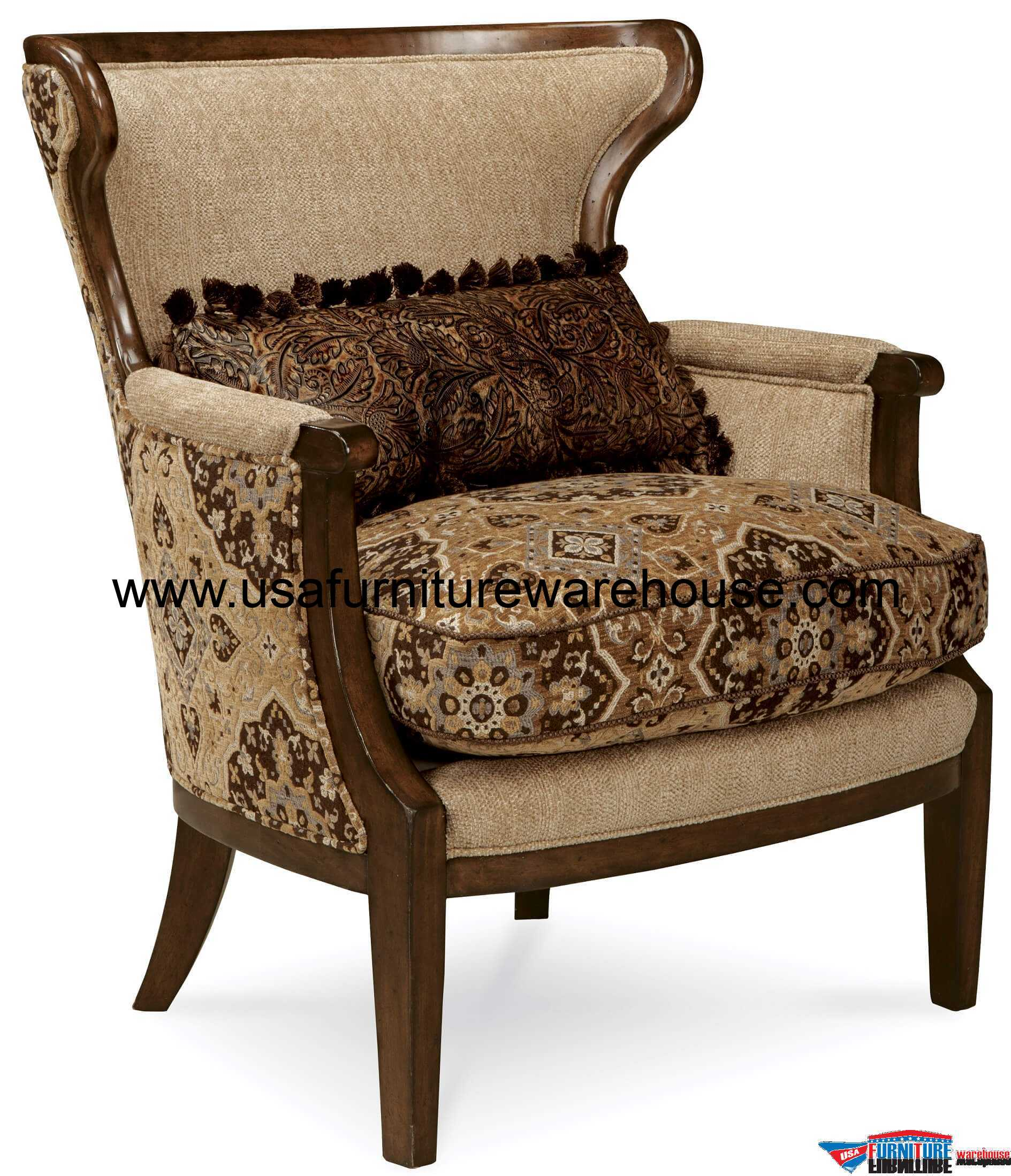A.R.T Furniture Ava Adele Wood Trim Accent Chair - USA ...