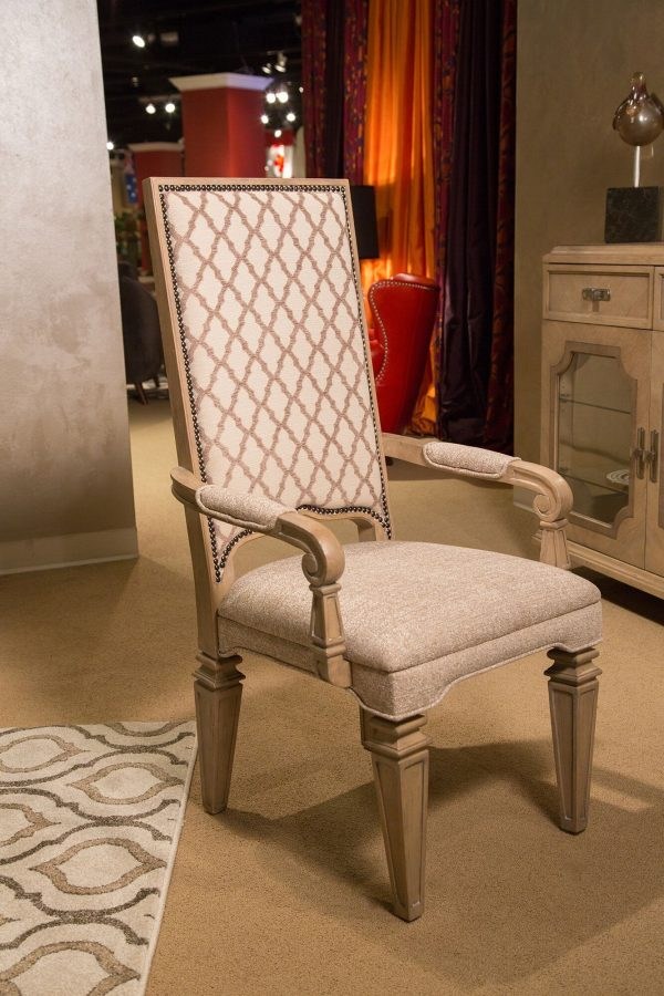 Aico Tangier Coast Dining Arm Chair Desert Sand Finish
