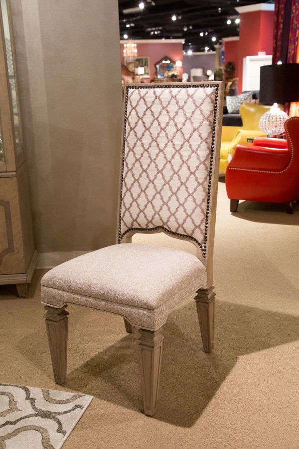 Aico Tangier Coast Dining Side Chair Desert Sand Finish