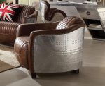 Brancaster Top Grain Brown Leather Accent Chair