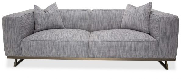 AICO Tempo Sofa Graphite Black Nickel