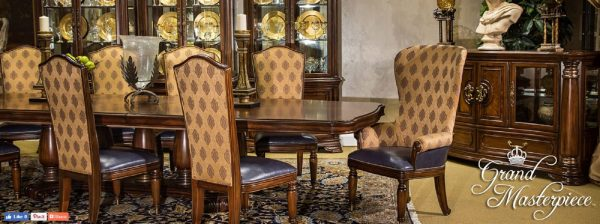 Aico Grand Masterpiece Pedestal Dining Set