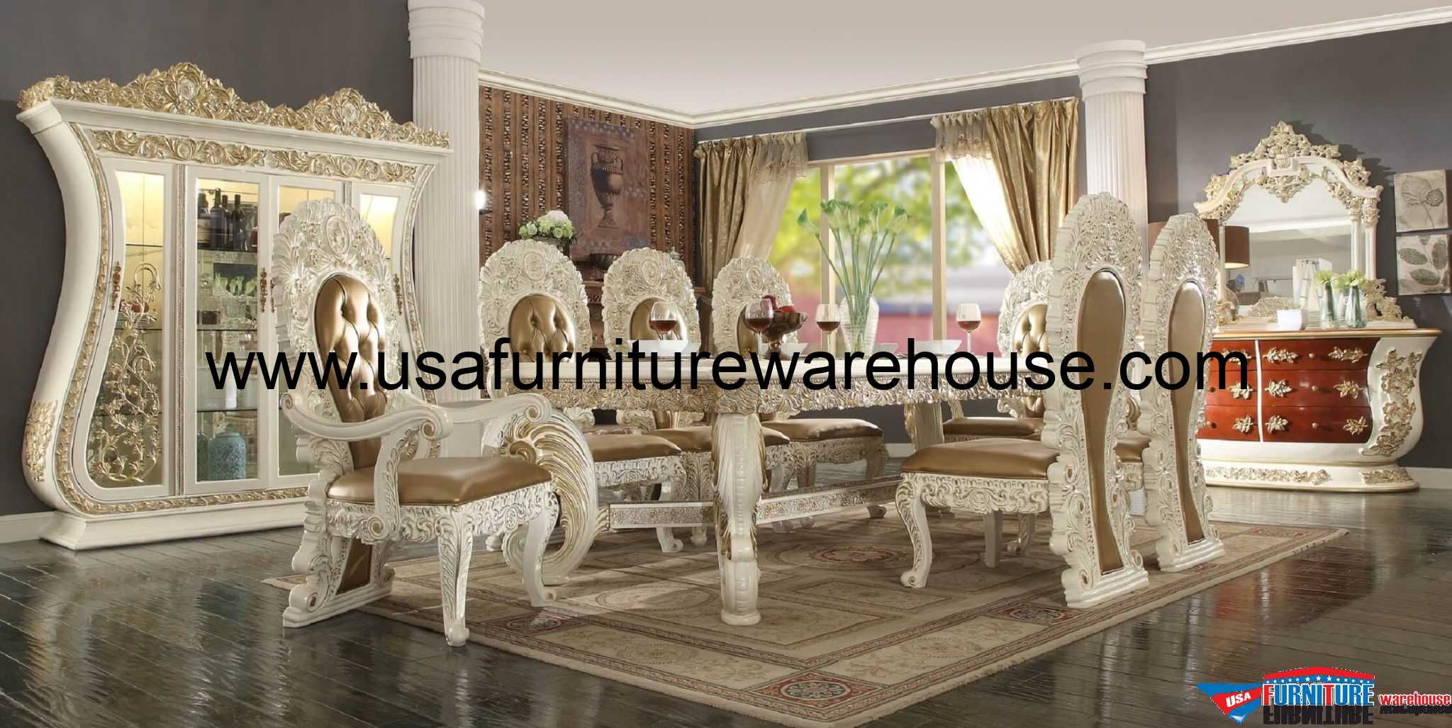 Perfect Homey Design HD 8019 Palazzo Dining Set Pictures
