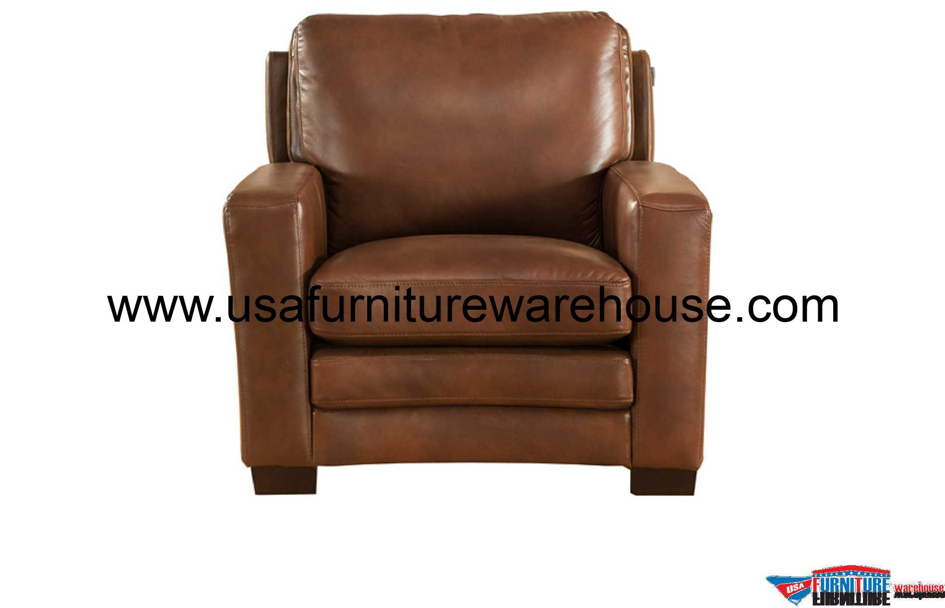 Joanna Full Top Grain Brown Leather Chair