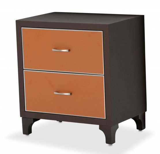 21 Cosmopolitan Orange 2 Drawer Nightstand