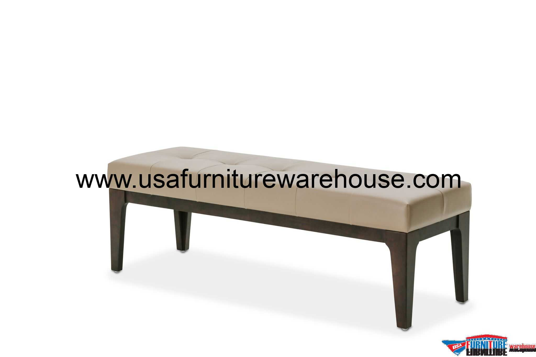 Aico 21 cosmopolitan taupe bed bench Bed benches