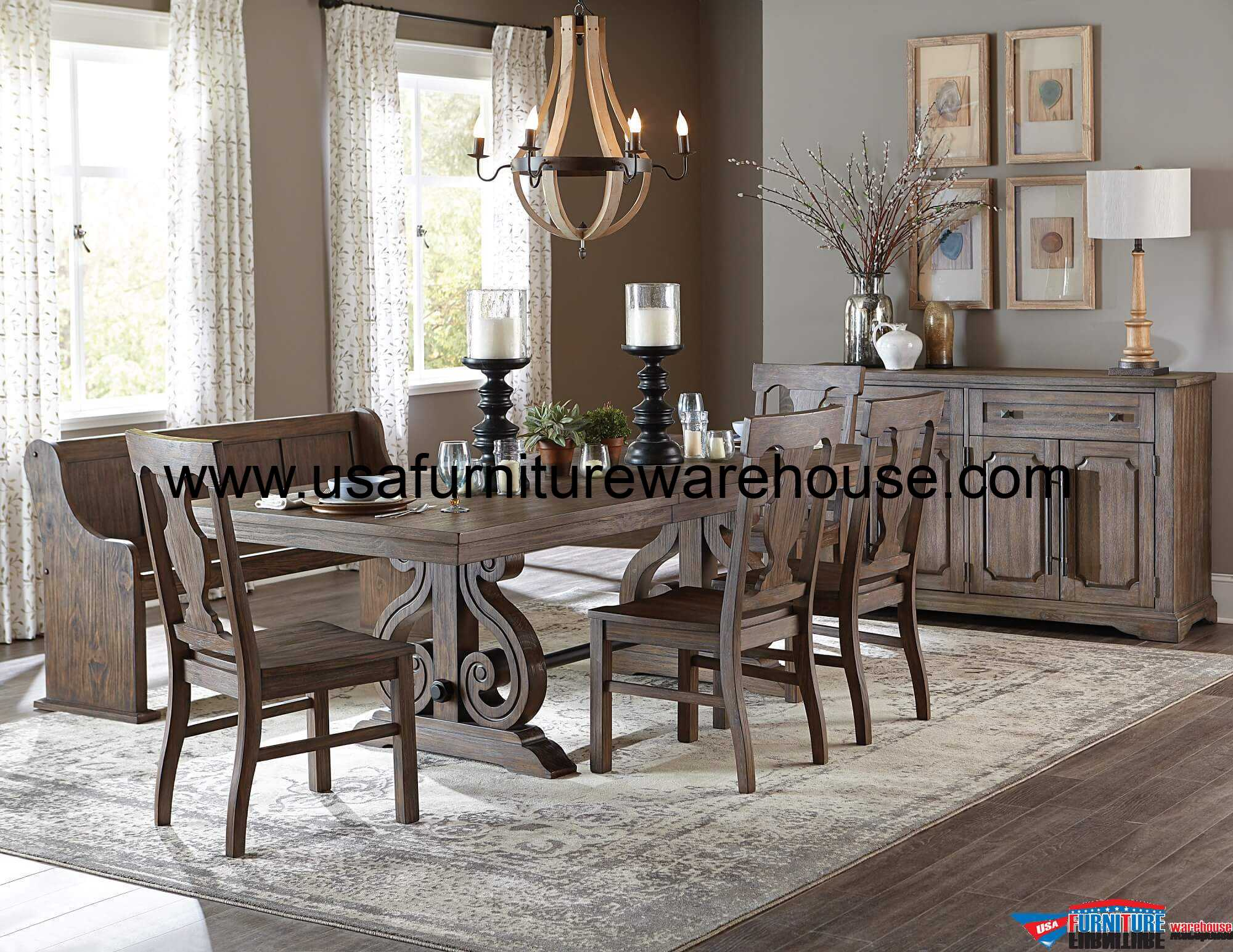 6 piece homelegance toulon expandable dining set