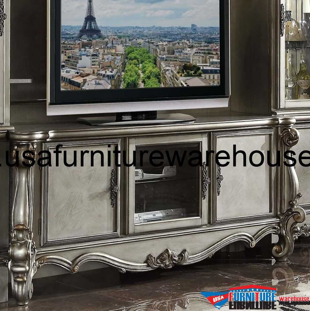 Furniture Store Online Usa: Acme Versailles Antique Platinum TV Stand