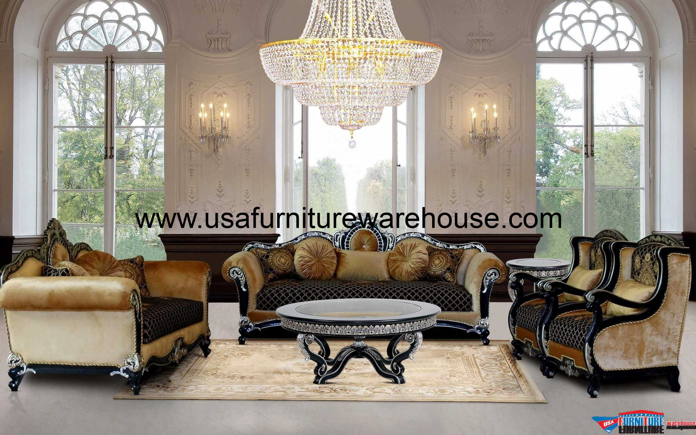 European furniture raffaello sofa set