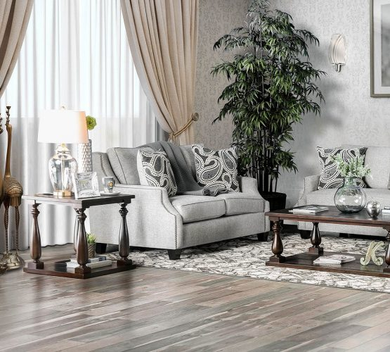 Madalyn Light Gray Loveseat
